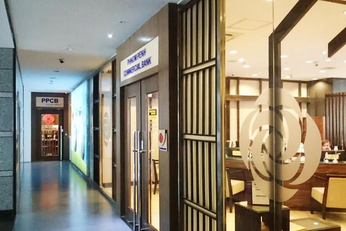 廊下奥に見えるのがジャパンデスクの入り口(建物内ではどちらもつながっている)