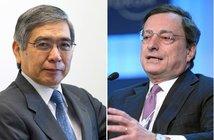 From Wikimedia Commons Haruhiko Kuroda | Mario Draghi