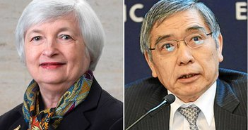 From Wikimedia Commons Janet Yellen | Haruhiko Kuroda
